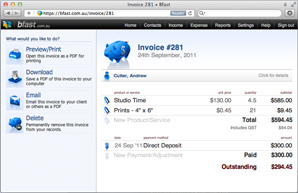 Create invoices quickly and easily.